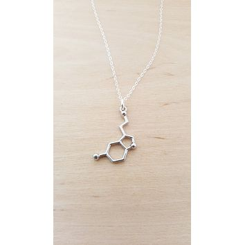 Serotonin Necklace - Sterling Silver Necklace - Simple Jewelry / Gift for Her