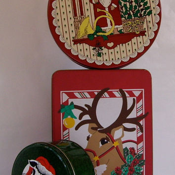 VintageTins Christmas Cookies Candies and Goodies 1990 cij