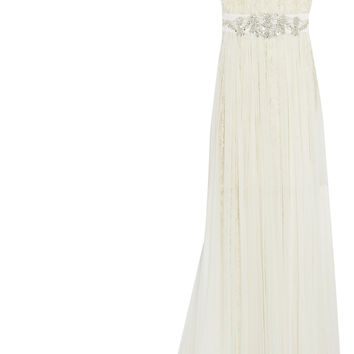 Marchesa - Embellished tulle and lace gown