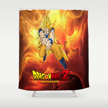 Goku Dragon ball Z saiyan Shower Curtain by Store2u