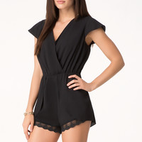 bebe Womens Lace Trim Romper