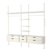 "STOLMEN 3 sections, white - 120 1/8x19 5/8x82 5/8-129 7/8 "" - IKEA"