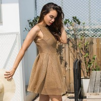 Round-neck Sleeveless Stylish One Piece Dress [96254001167]