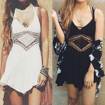 ONETOW hot cute lace romper