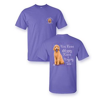 Sassy Frass Love is Wet Noses Puppy Dog Golden Doodle Comfort Colors T Shirt