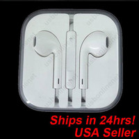 NEW 3.5mm Earbuds EarPods Earphone Headphone w/ Remote & Mic for iPhone 5 5th 5G