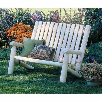 Rustic Natural Cedar Furniture 010006B Northern White Cedar Indoor/Outdoor High Back Settee