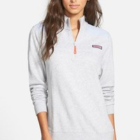 Women's Vineyard Vines 'Shep' Oxford Quarter Zip Pullover,