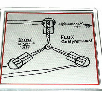 Back to the Future Flux Capacitor drawing prop Coaster 4 X 4 inches