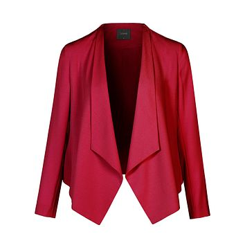 LE3NO Womens Casual Work Office Lightweight Open Front Long Sleeve Drape Blazer Jacket