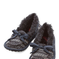 ModCloth Where the Slumber Party At Slippers in Fair Isle