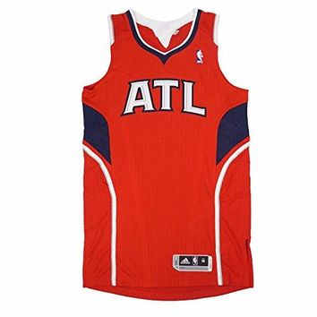 Atlanta Hawks NBA Adidas Red Official Authentic On-Court Revolution 30 Alternate Jersey For Men