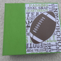 6x6 Football Scrapbook Photo Album
