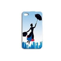 Disney Mary Poppins Cute Case Umbrella Phone Cover iPhone iPod Cool Blue Movie