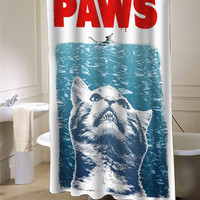 Crazy Cat Meow Paws Jaws  Shower Curtain