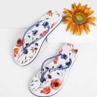 Floral Toe Post Sandals -SheIn(Sheinside)