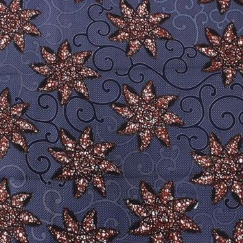 Navy Star Fabric