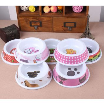 1 piece colorful cartoon print for Large, Small, food and water bowls..