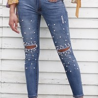Pretty In Pearls Skinny Jeans, All Sizes