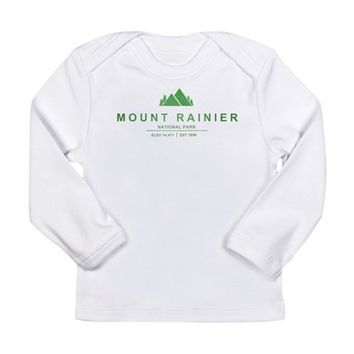 Mount Rainier National Park, Washington Long Sleeve Infant T-Shirt