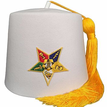 Order of the Eastern Star OES White Fez