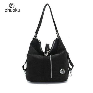 Waterproof Nylon Double Shoulder Bag Ladies ladies hand bags multifunctional Crossbody Bags Flap Zipper bags Feminina Bolsos 721