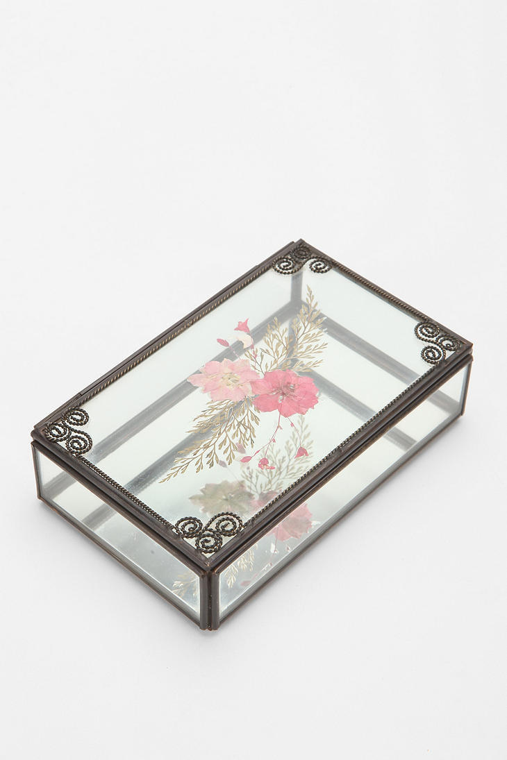 Pressed Flower Jewelry Box