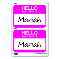 Mariah Hello My Name Is - Sheet of 2 Stickers