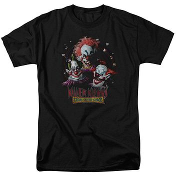Killer Klowns From Outer Space T-Shirt Popcorn Black Tee