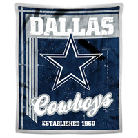 Dallas Cowboys NFL Mink Sherpa Throw (50in x 60in)