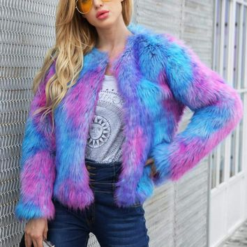 Oh Darlin' Faux Fur Ombre Coat
