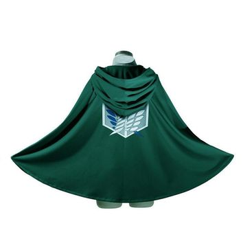Cool Attack on Titan Green Unisex Hooded Cape Cosplay Costume Anime  Cloak Women Men no  Scouting Legion Robe Gown AT_90_11