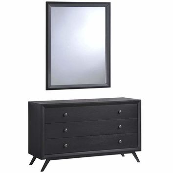 Black Tracy Dresser And Mirror