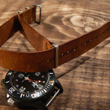 Zulu strap, leather watch strap, watch band, leather watch band, watch straps, Nato watchstrap