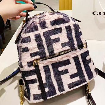 Fendi New fashion letter print mini backpack bag women handbag crossbody bag