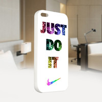 Nike Just Do it Glitters - Photo on Hard Cover For Iphone 4/4S Case, iPhone 5 Case - Black, White, Clear