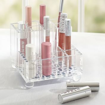 KENNEDY ACRYLIC BEAUTY BRUSH AND LIPSTICK ORGANIZER