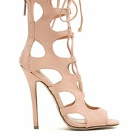 Night Is Young Lace-Up Heels
