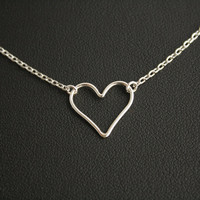 Heart Necklace Pendant Sterling Silver Heart Silver Everyday Jewelry