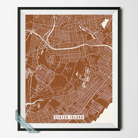 Staten Island Print, New York Poster, Staten Island Poster, Staten Island Map, New York Print, Street Map, Wall Art