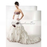 Elegant  sweetheart wedding dress