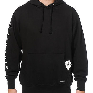 Men Middle Finger Cat With Pocket Hoodies [9070620611]
