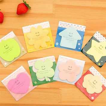 Cute Cartoon Kawaii Sticky Colored Paper Memo pad Lovely Korean Stationery School Supplies Post it Note  Gift Free shipping 142