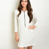 IVORY TSHIRT DRESS
