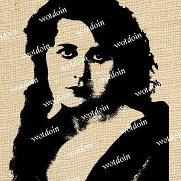 1920s Glamour Girl Starlet Theater Actress Fashionable Image Transfer Printable Instant Download