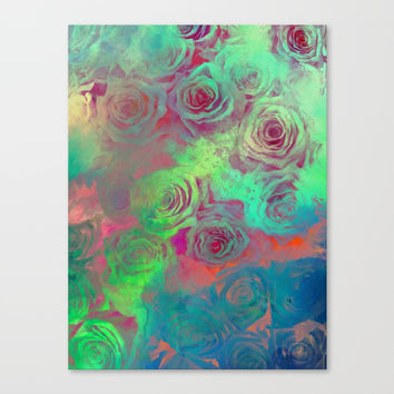 flower 25 roses #flowers #roses Canvas Print by jbjart