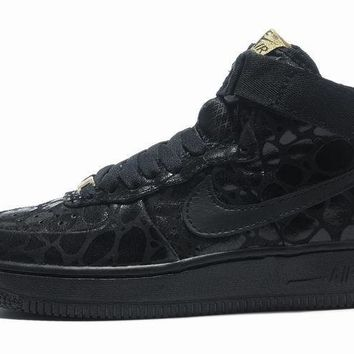 Nike Air Force 1 All Black For Women Men Running Sport Casual Shoes Sneakers