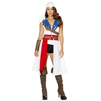 Sexy Assassin's Creed Women's Coat with Accessories