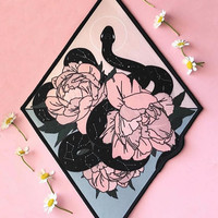 """10"""" Large Iron On Patch by Moon Goddess Market Celestial Snake patch 