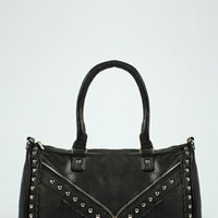 Rose Stud Detail Shoulder Bag